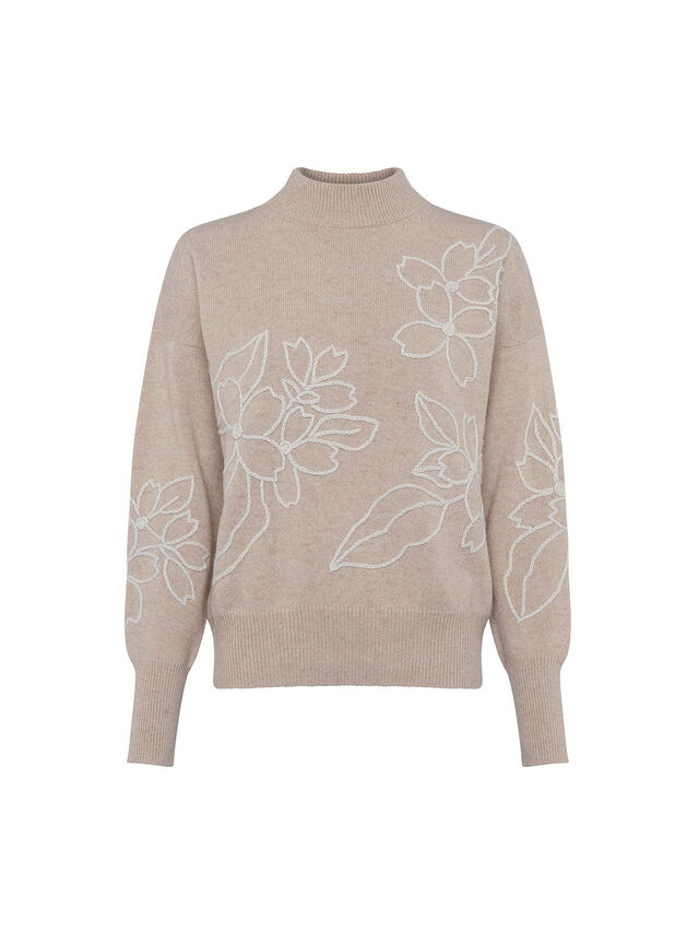 Lami Floral Embroidered Knit