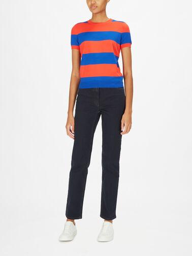 Konsuelo-SSlv-Knitted-Block-Stripe-Sweater-837434