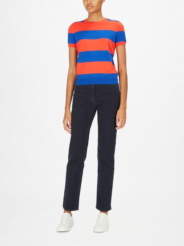 Konsuelo Knitted Block Stripe Sweater