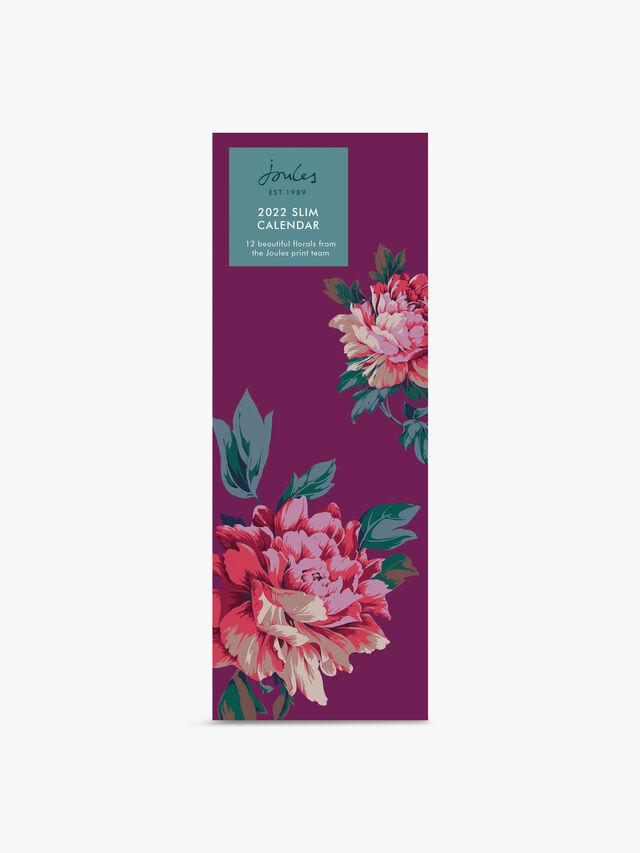 Joules Westbourne Floral Slim Calendar 2022