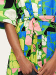 Carli Printed Denim Dress