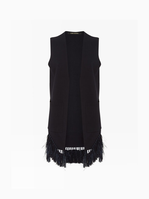 Sean Lux Wool Sleeveless Cardigan