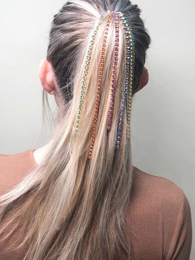 Confetti Pony Chain Comb