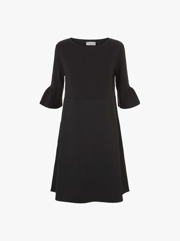 Calcut Peplum Sleeve Jersey Dress