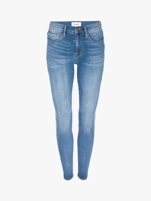 Le Skinny De Jeanne Sanded Hem Jeans