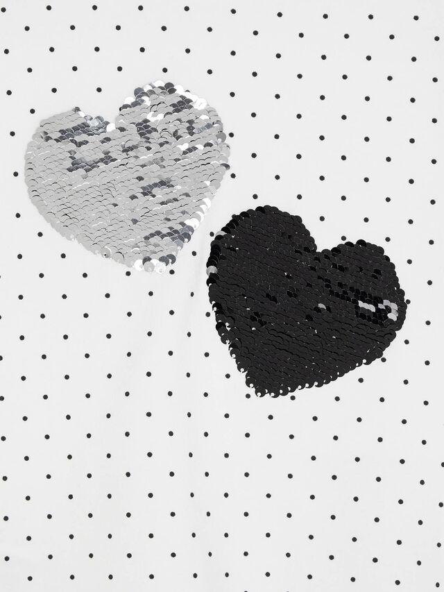 L/s printed sequin heart t-shirt