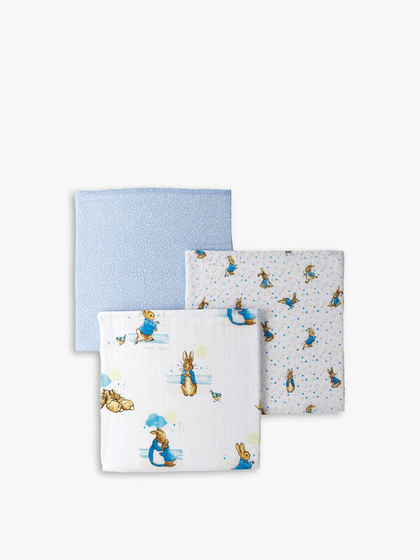 Peter Rabbit Muslin Squares 3 Pack