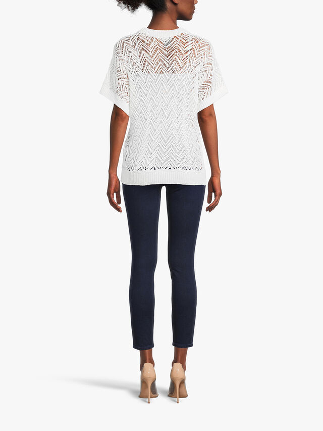 Short Sleeve Textured Sweater