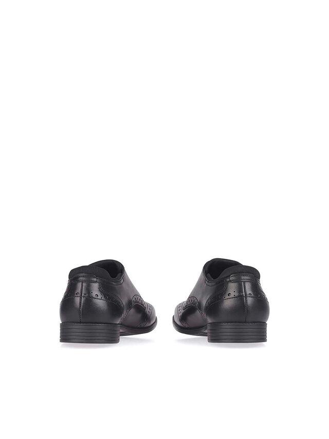 Tailor Black Leather School Shoes