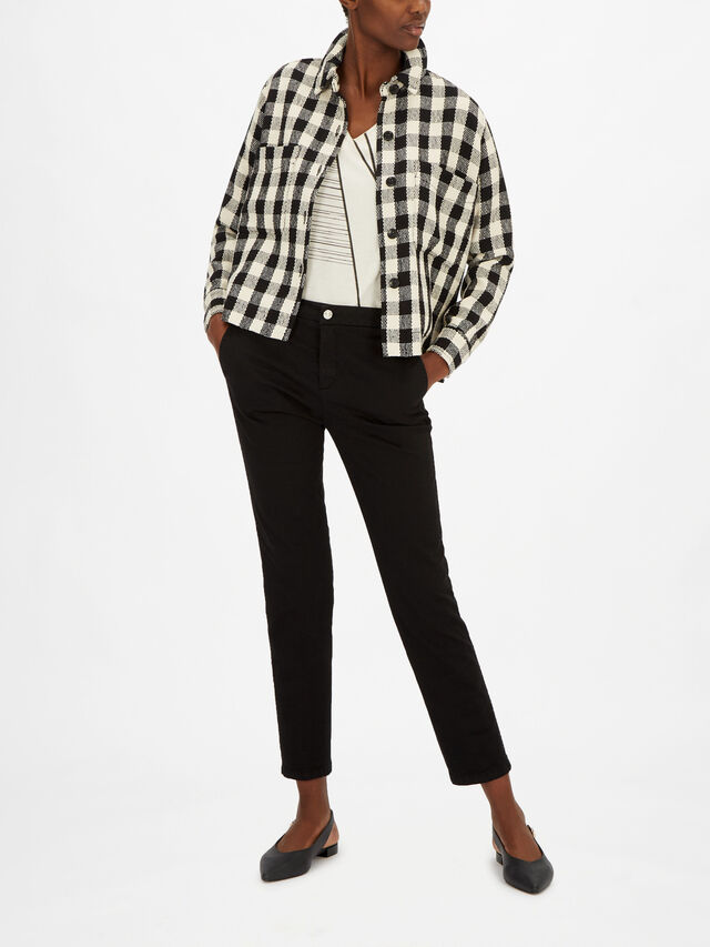 Janella Gingham Boucle Shacket
