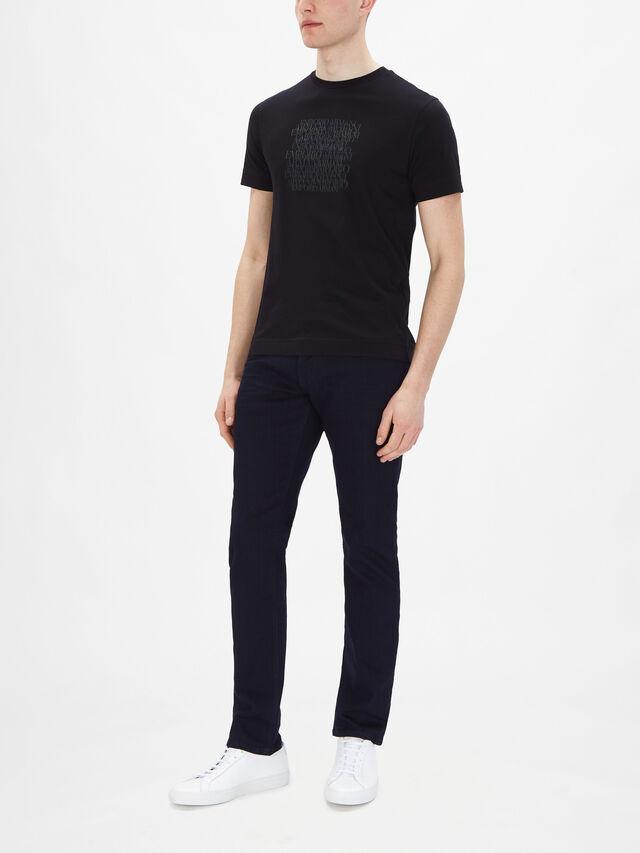 Supima Embroidered & Printed T-shirt