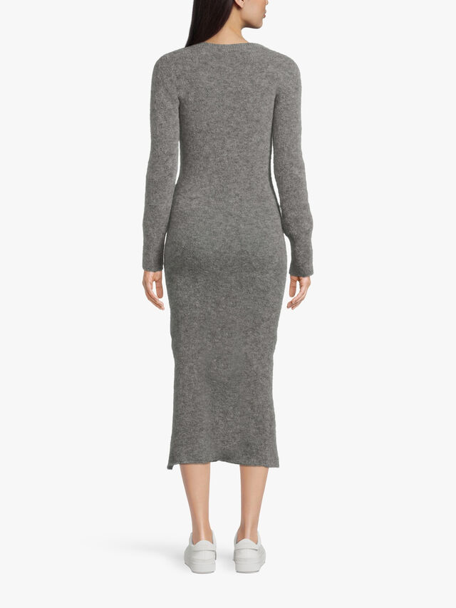 Knitted Long Dress with Side Slit