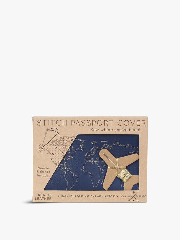 Stitch Passport Leather Holder