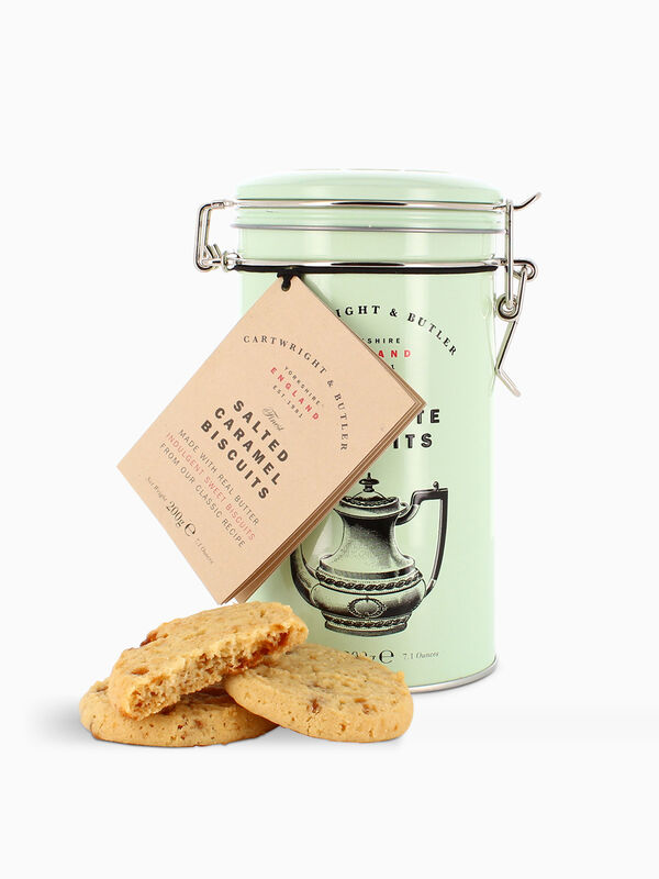 Salted Caramel Biscuit Tin 200g