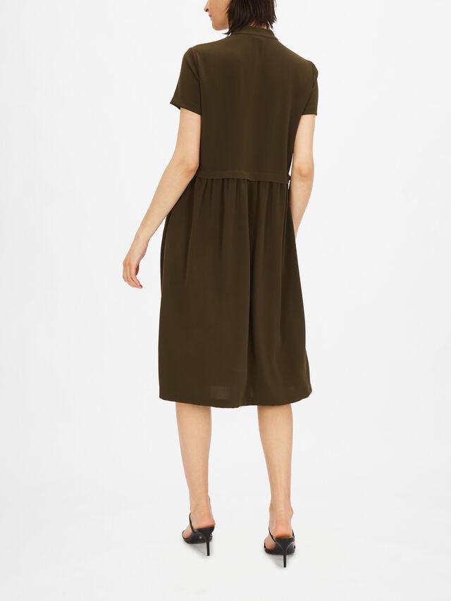 Short Sleeve Shirt Style Dress