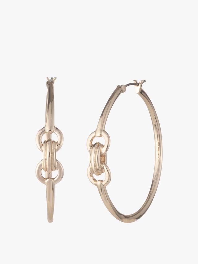 Large Bit Hoop Earrings