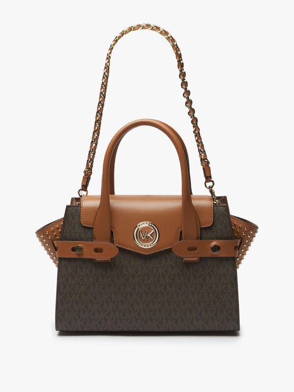 Carmen Small Signature Flap Satchel