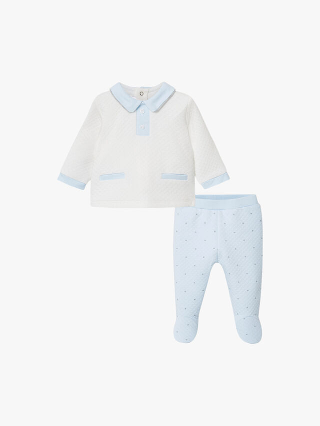 Quilted Top And Trouser Set
