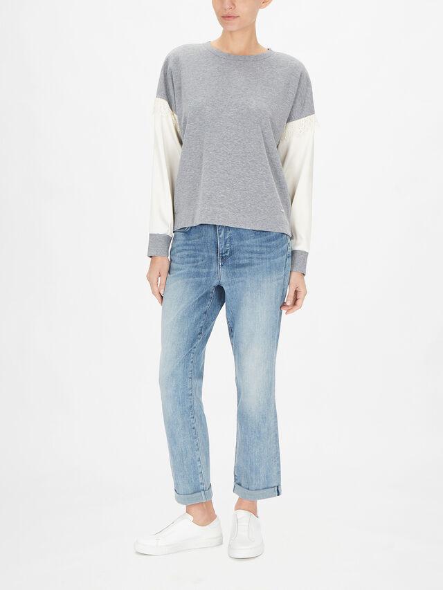 Mixed Lace Sweatshirt