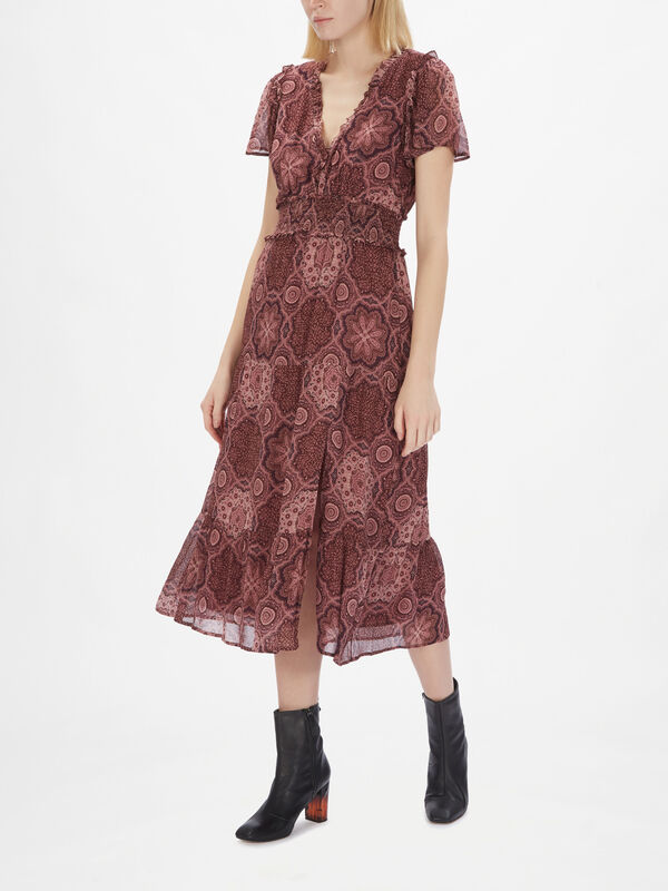 Holland Short Sleeve Midi Dress