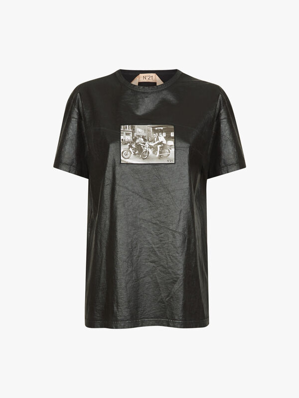 Leather Graphic T-Shirt