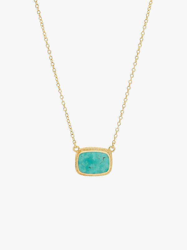 Medium Turquoise Cushion Necklace