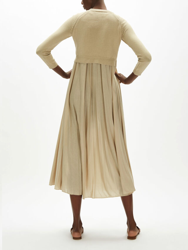 Barabba Pleat Dress With Knit Top