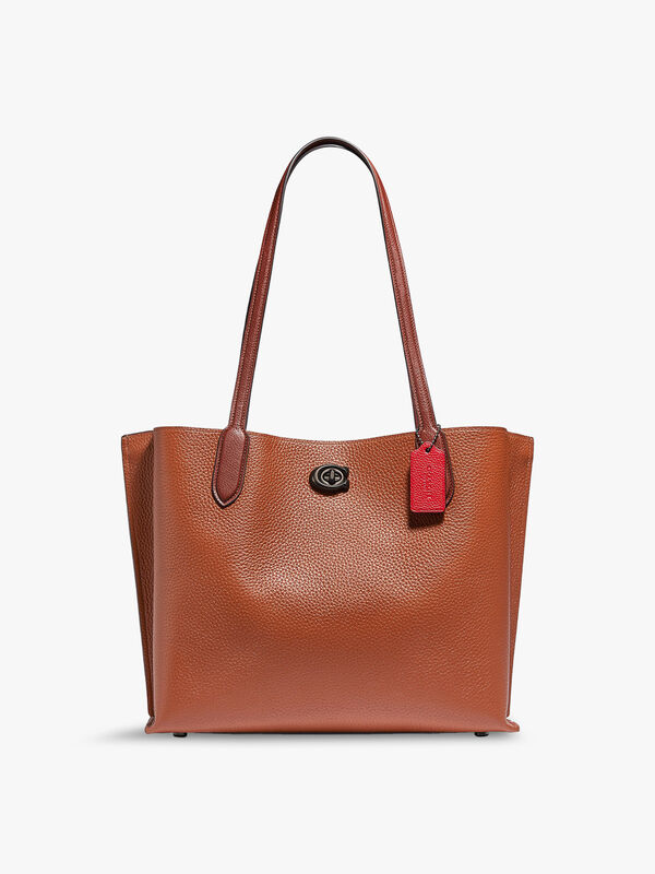 Colorblock Leather with Signature Interior Willow Tote