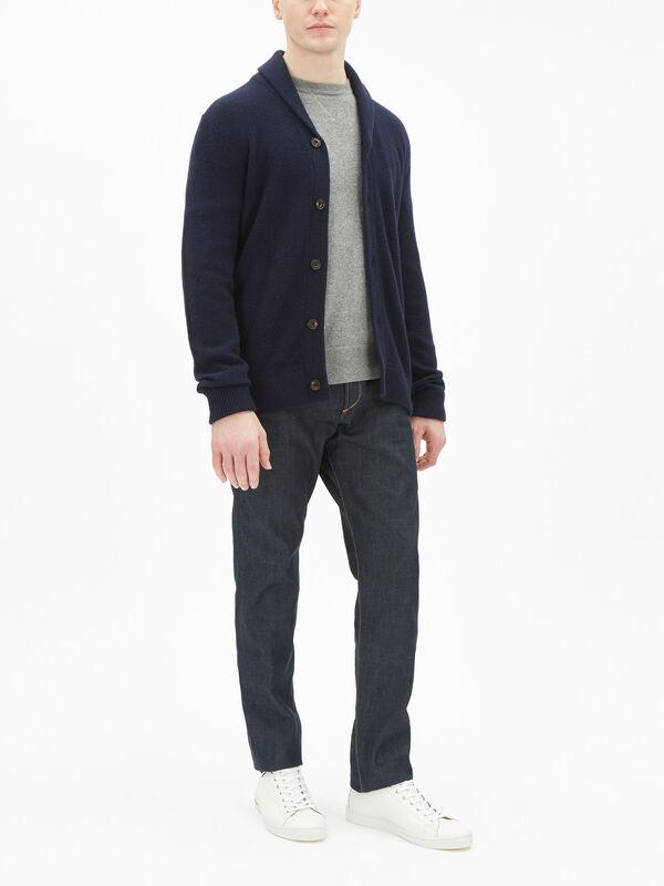 Shawl Collar Knit Cardigan