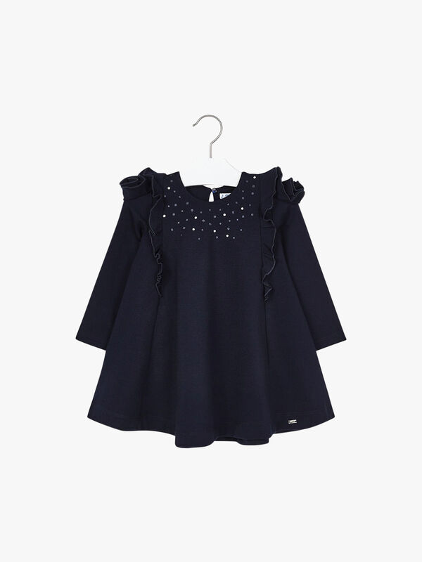 Ruffle Embellished Dress