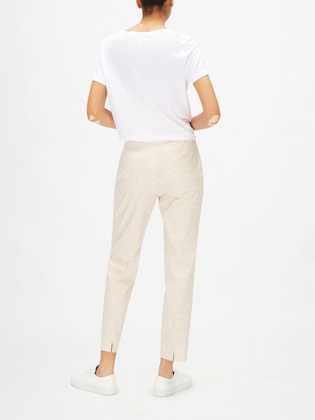 Emmanuella Check Cropped Cotton Trouser