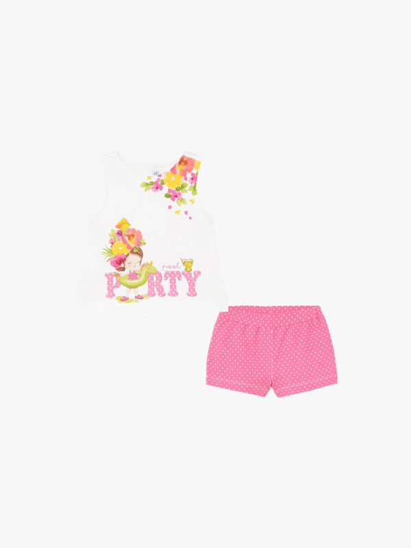 Spotted Shorts Set