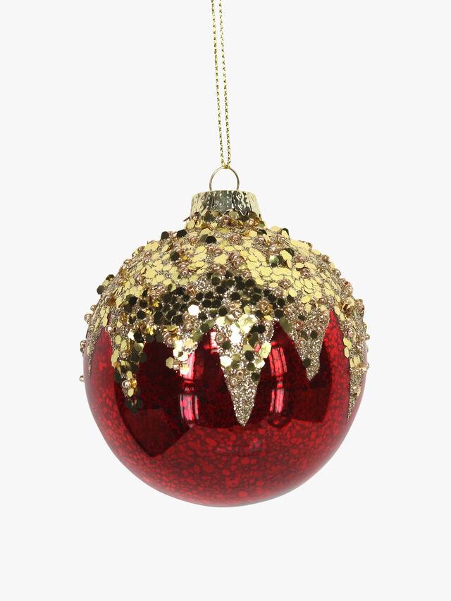 Antique Shiny Glass Christmas Ball