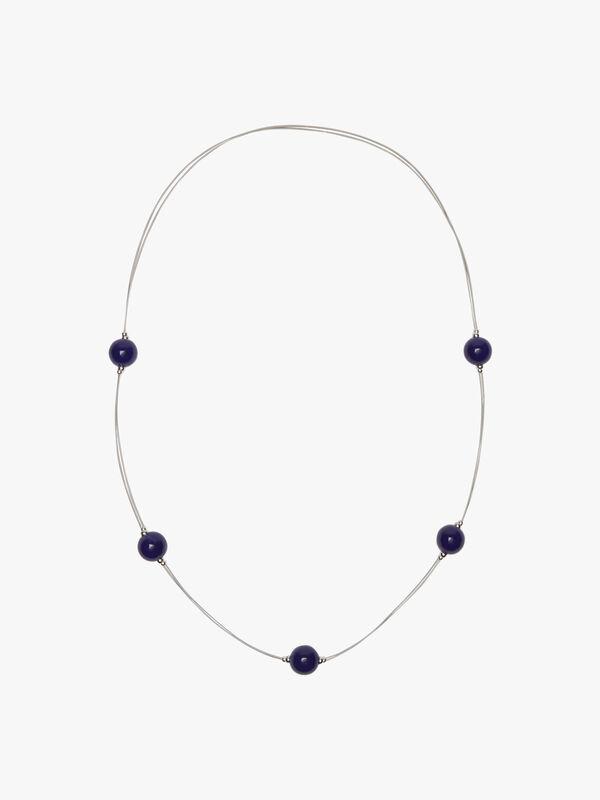 Cosmic Long Necklace blue (Blue)