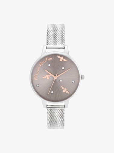 Pearly Queen Mesh Watch