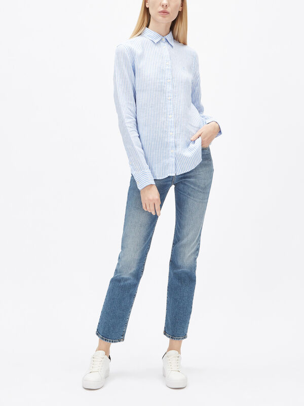 The Linen Chambray Stripe Shirt