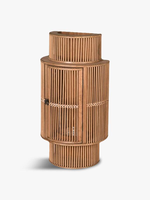 Bamboo Curved Wall Lantern