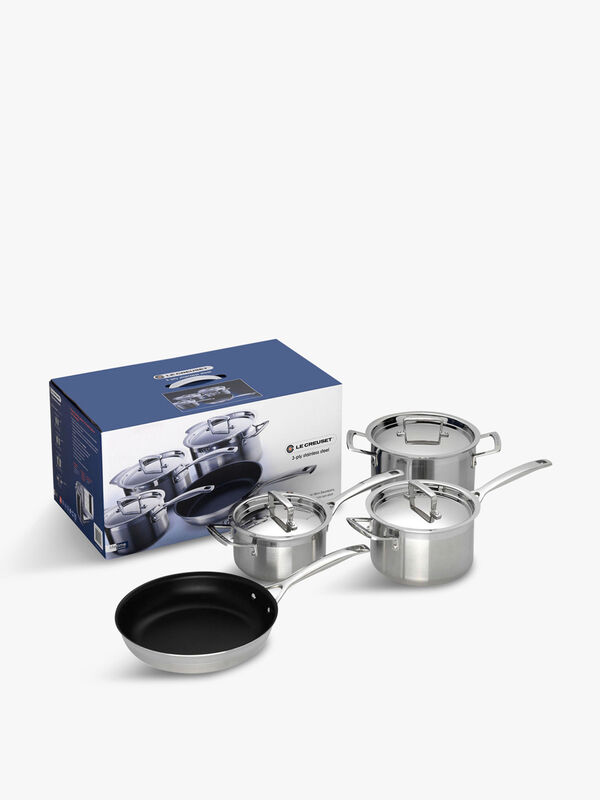 Stainless Steel 4 Piece Cookware Set