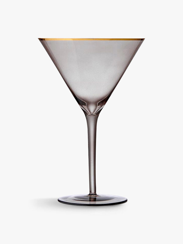 Chloe Navy Martini Glass