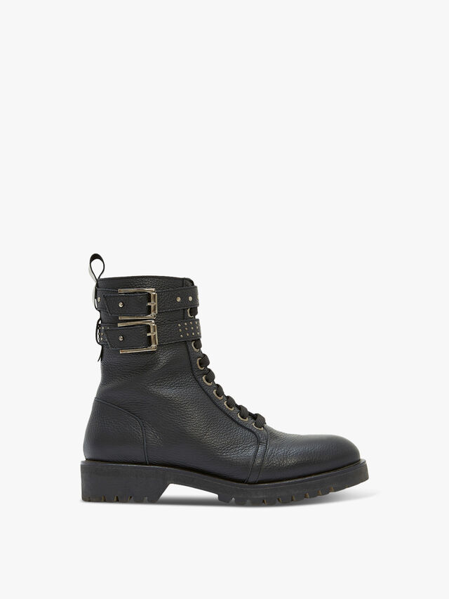 Brooke Black Biker Boots