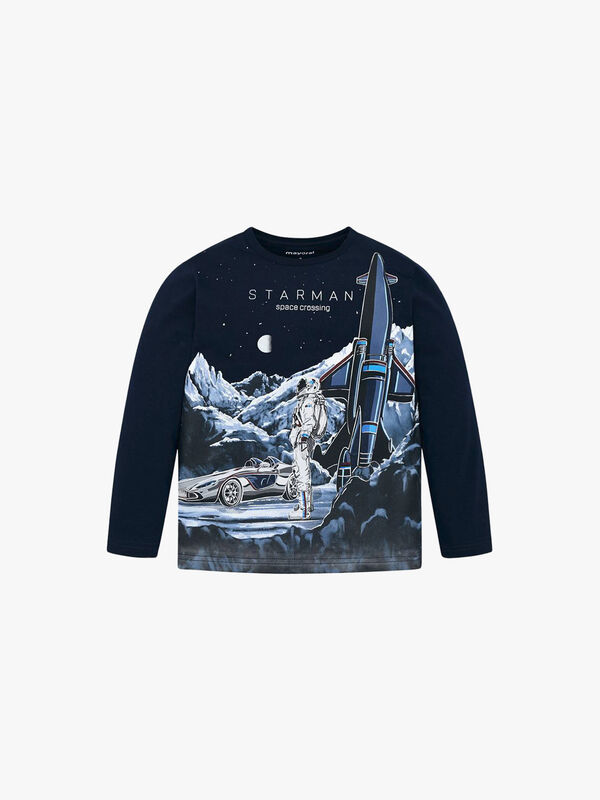 Long Sleeved Space Rocket Top