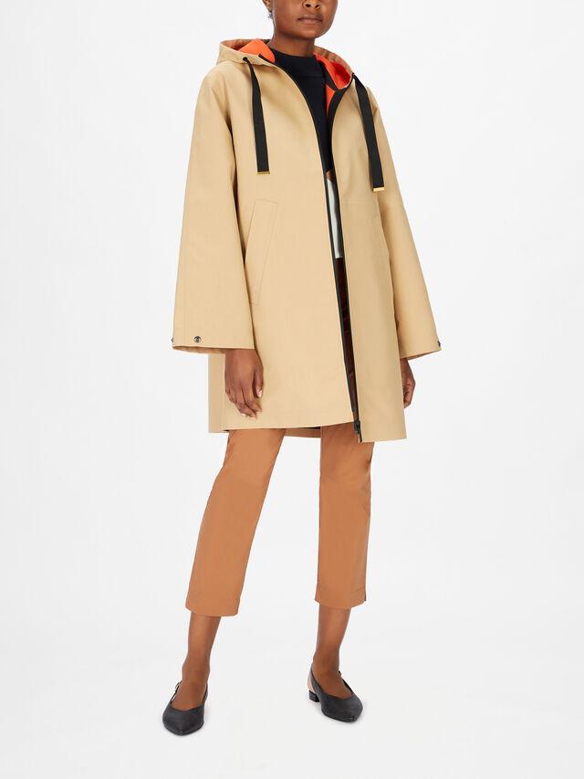 Hooded Zip Up Trench Coat