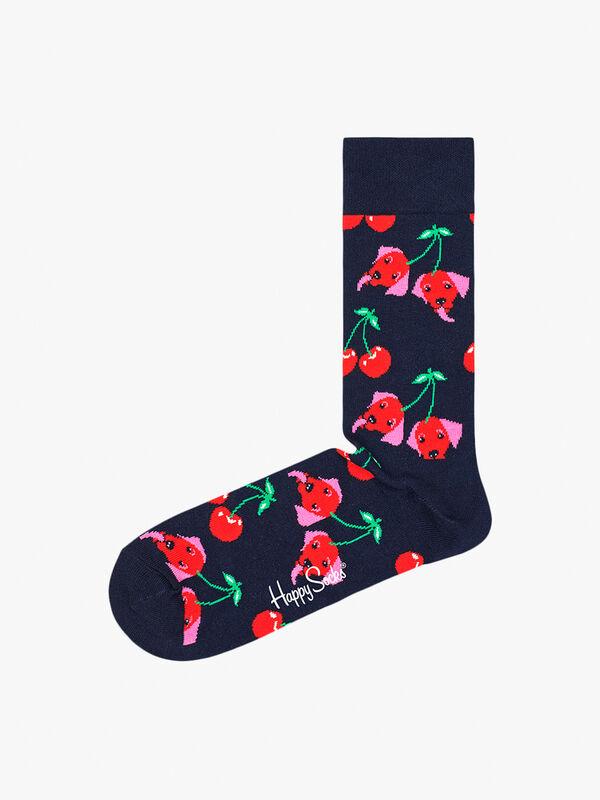 Cherry Dog Sock