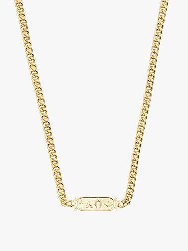 Gold Hiero Bar Necklace