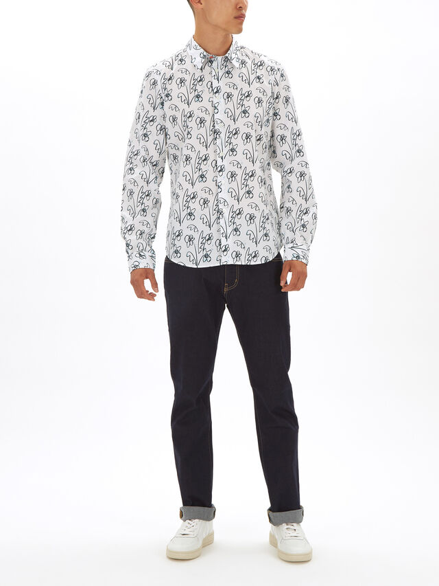 Flowers Tailored Fit Shirt