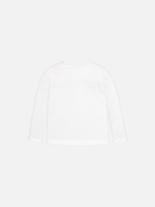 Long Sleeved T-Shirt With Ruffled Cuffs