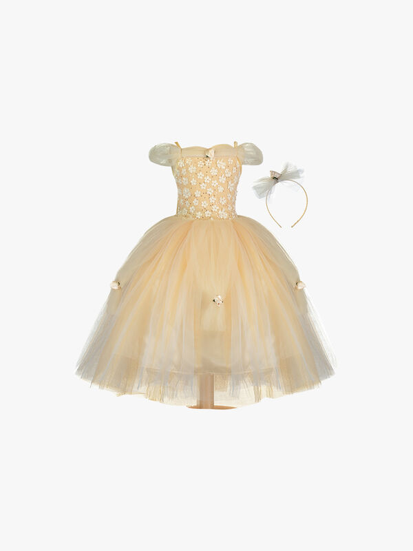 Golden Princess Costume - Age 6-8 Years