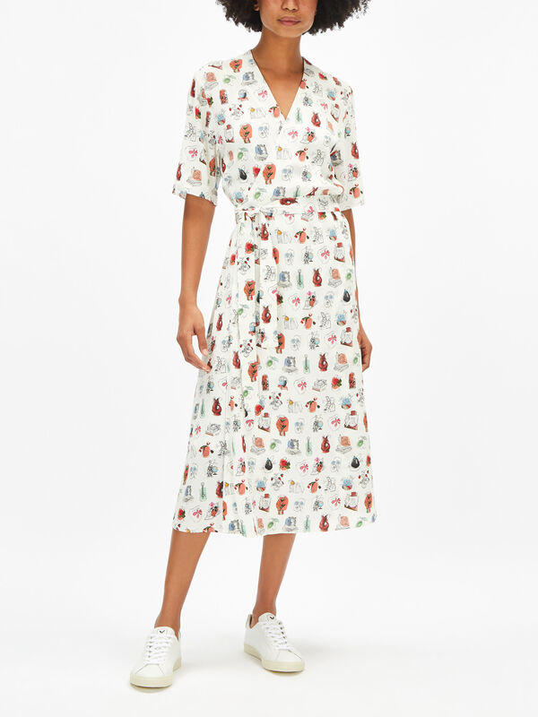 Fenwick Exclusive Printed Wrap Dress