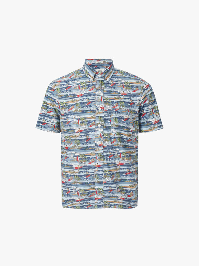 Sander Tiki Surf Print Shirt