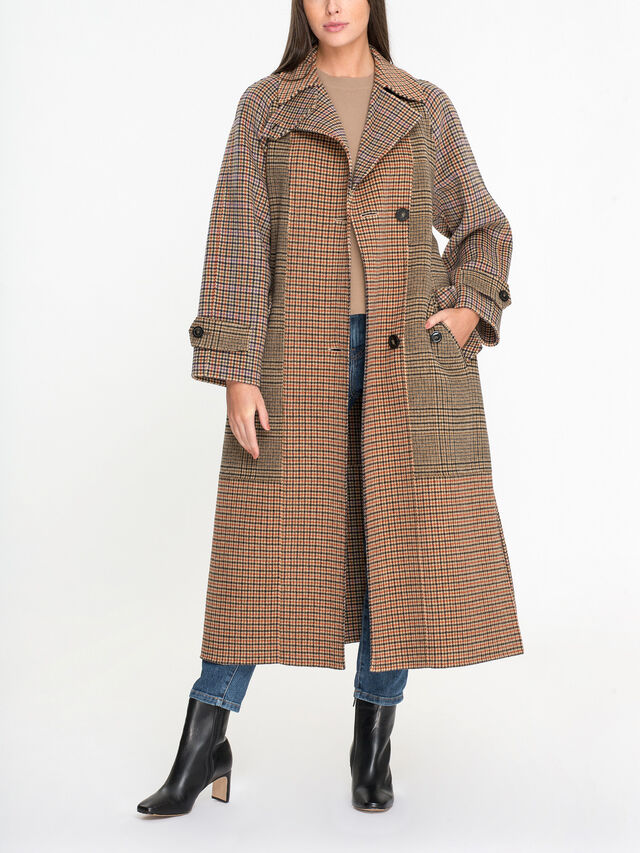Foggia Double Breasted Belted Coat